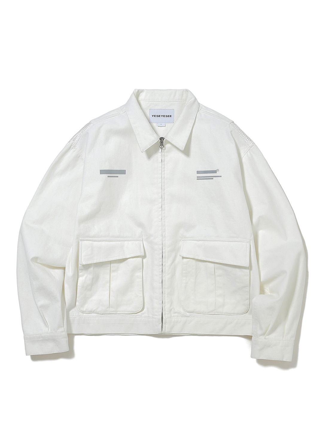 Vented Trucker Jacket White