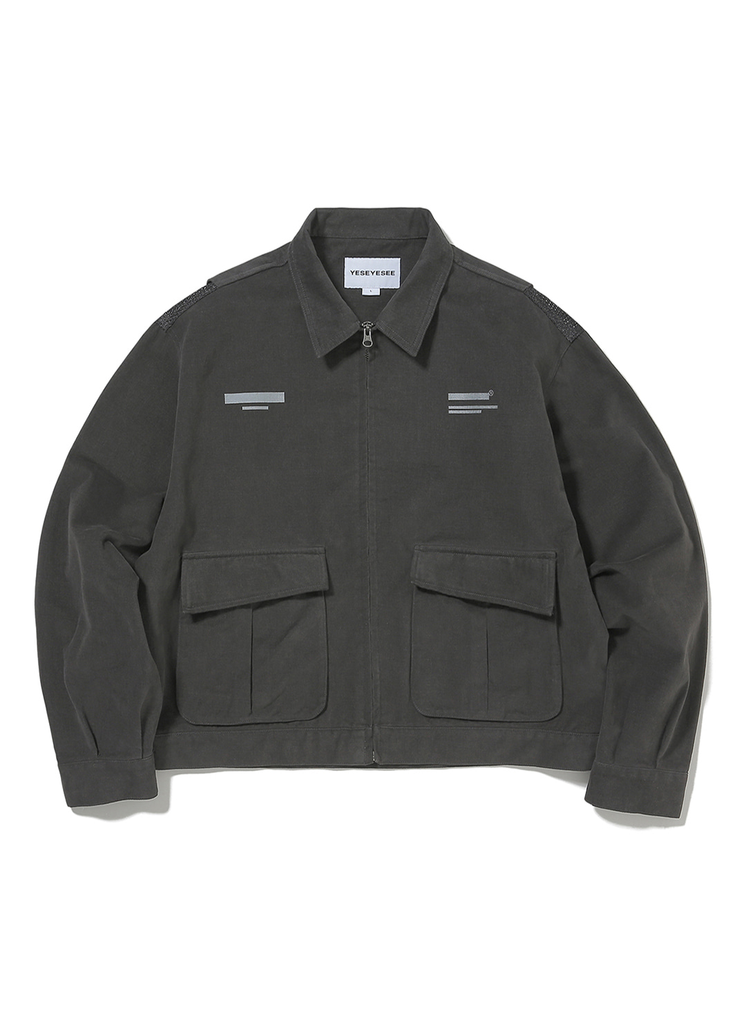 Vented Trucker Jacket Black