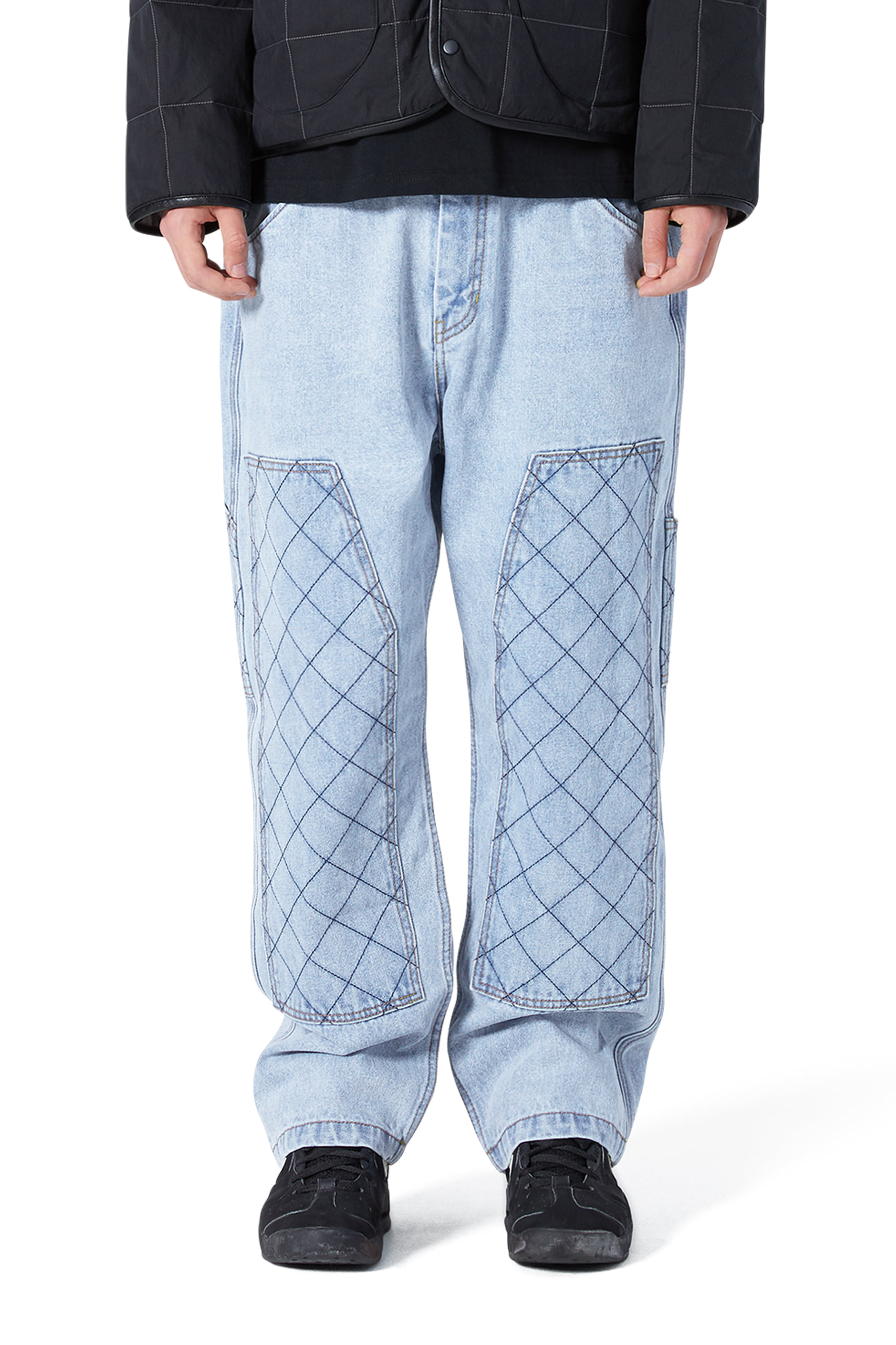 Net Denim Work Pants Light Blue