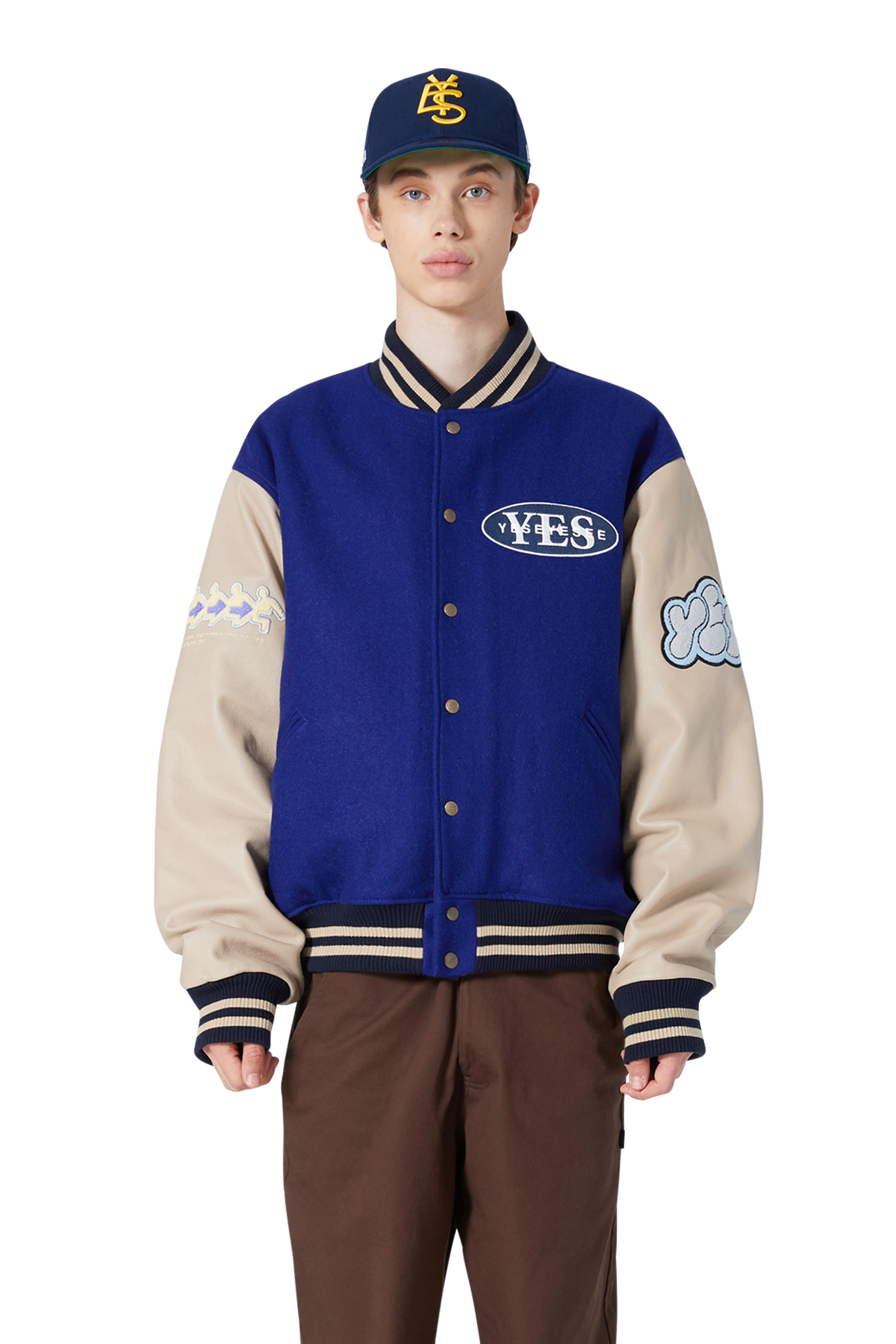Poker Varsity Jacket Navy