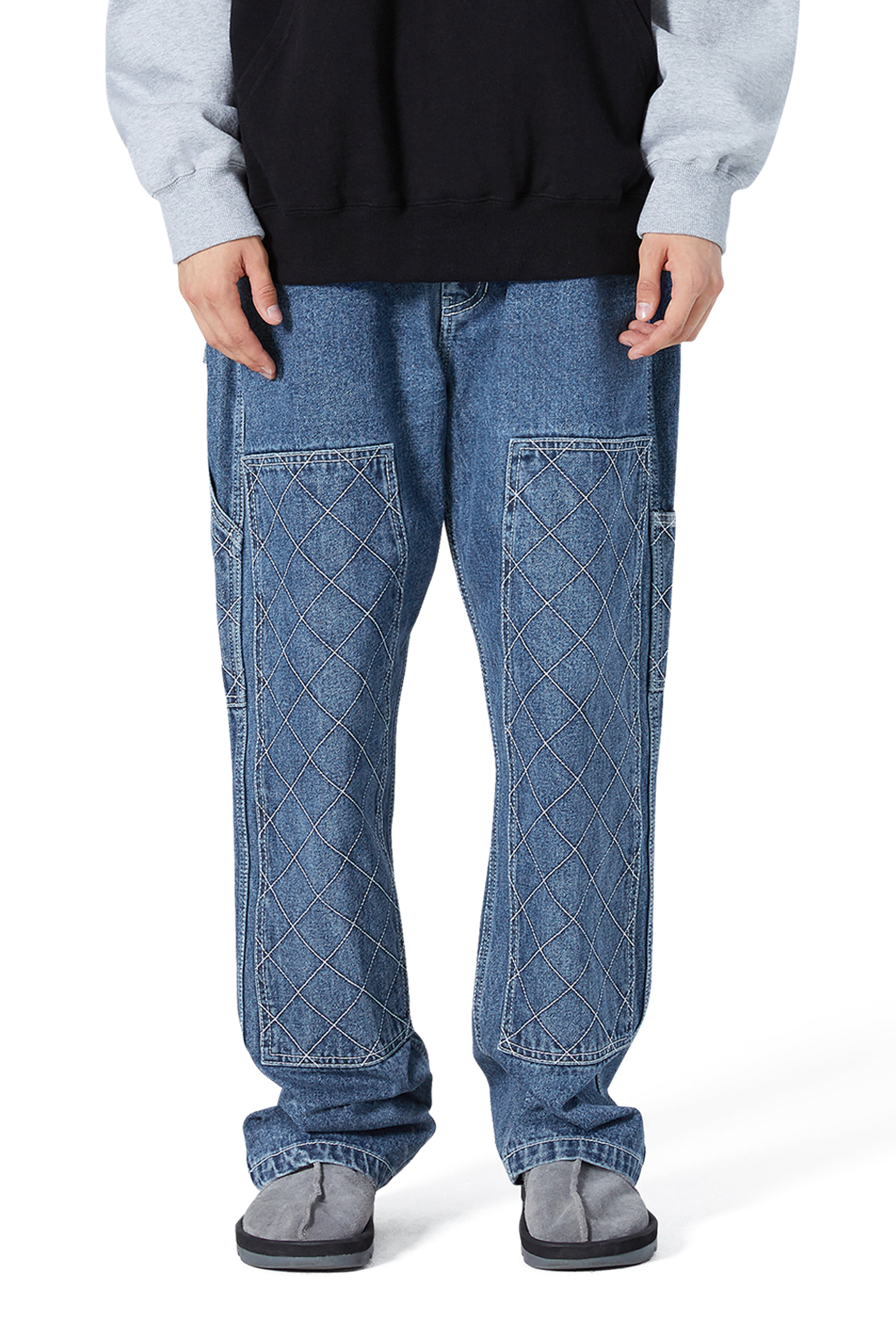 Net Denim Work Pants Deep Blue