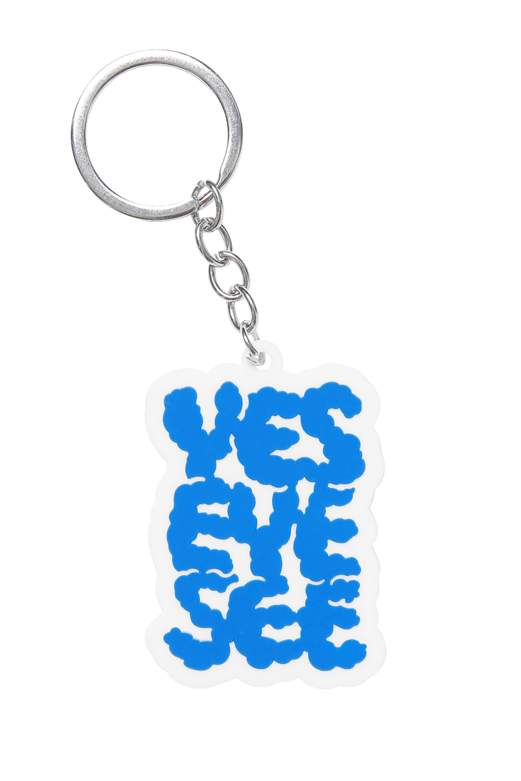 Y.E.S  Cloud keyring White