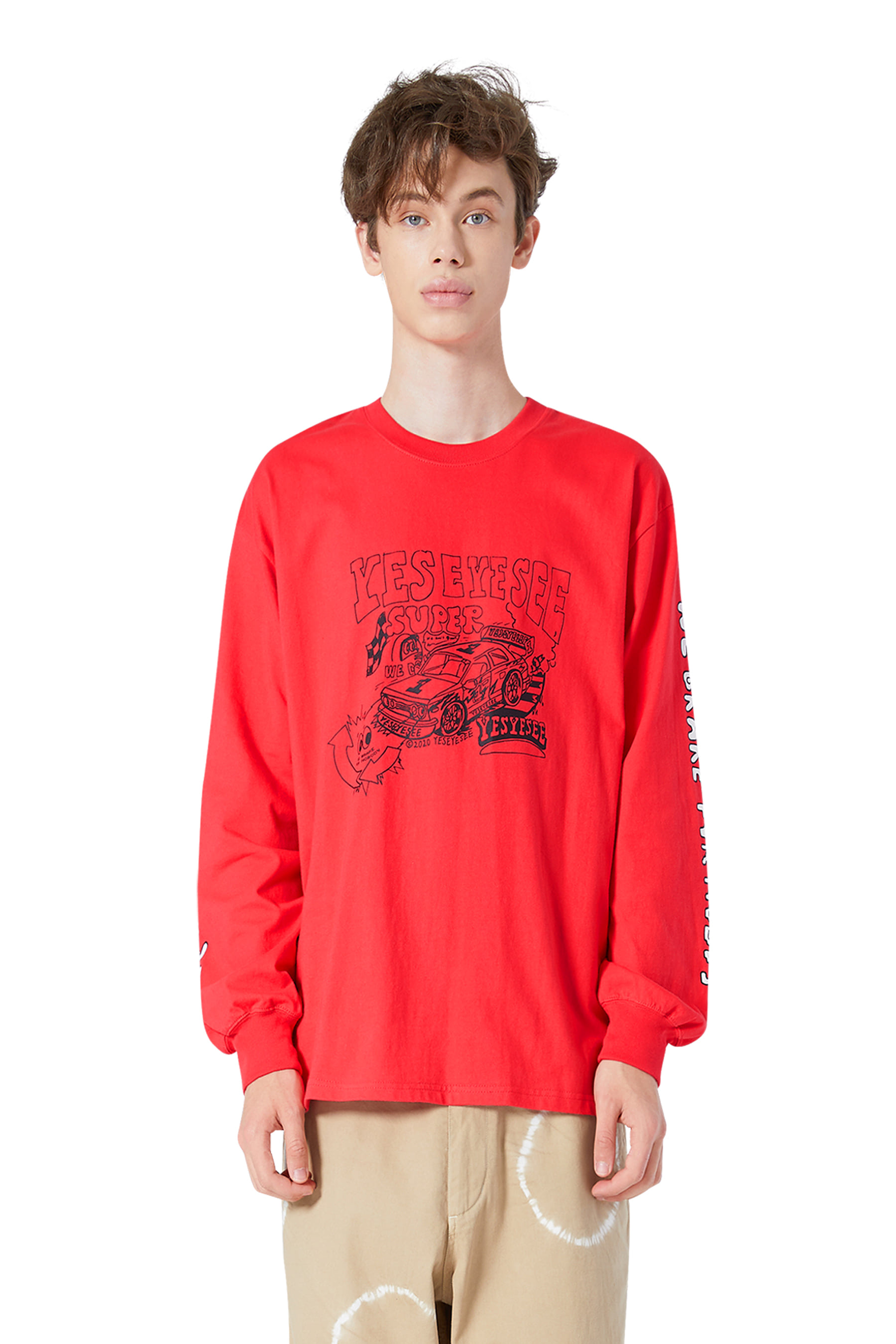 Y.E.S Racer L/S Red