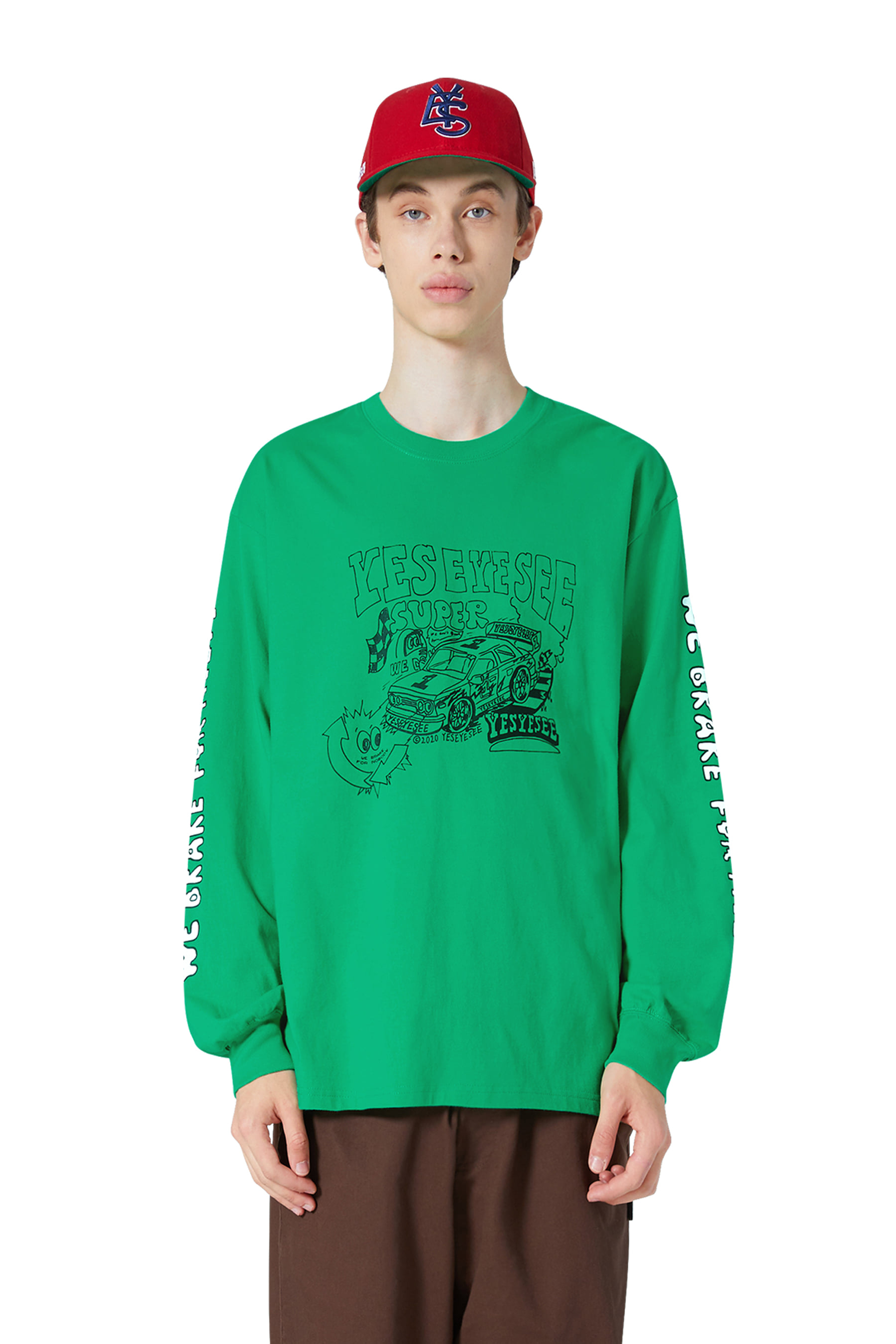 Y.E.S Racer L/S Green