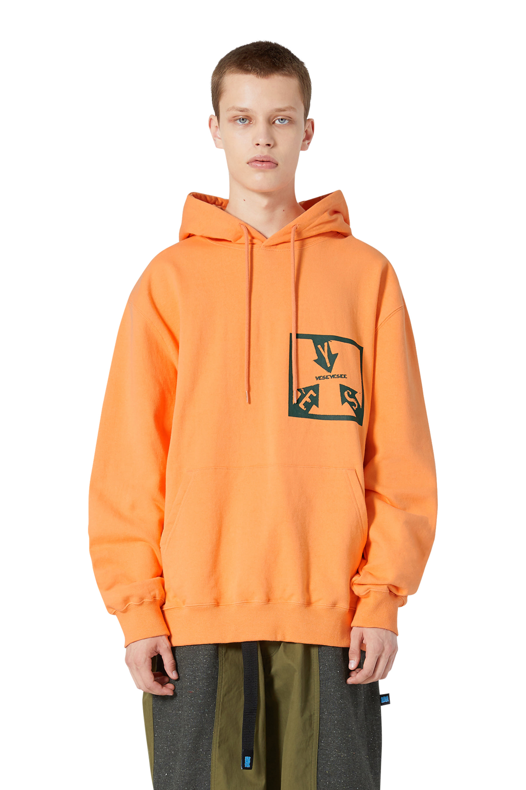 Y.E.S Path Hoodie Orange