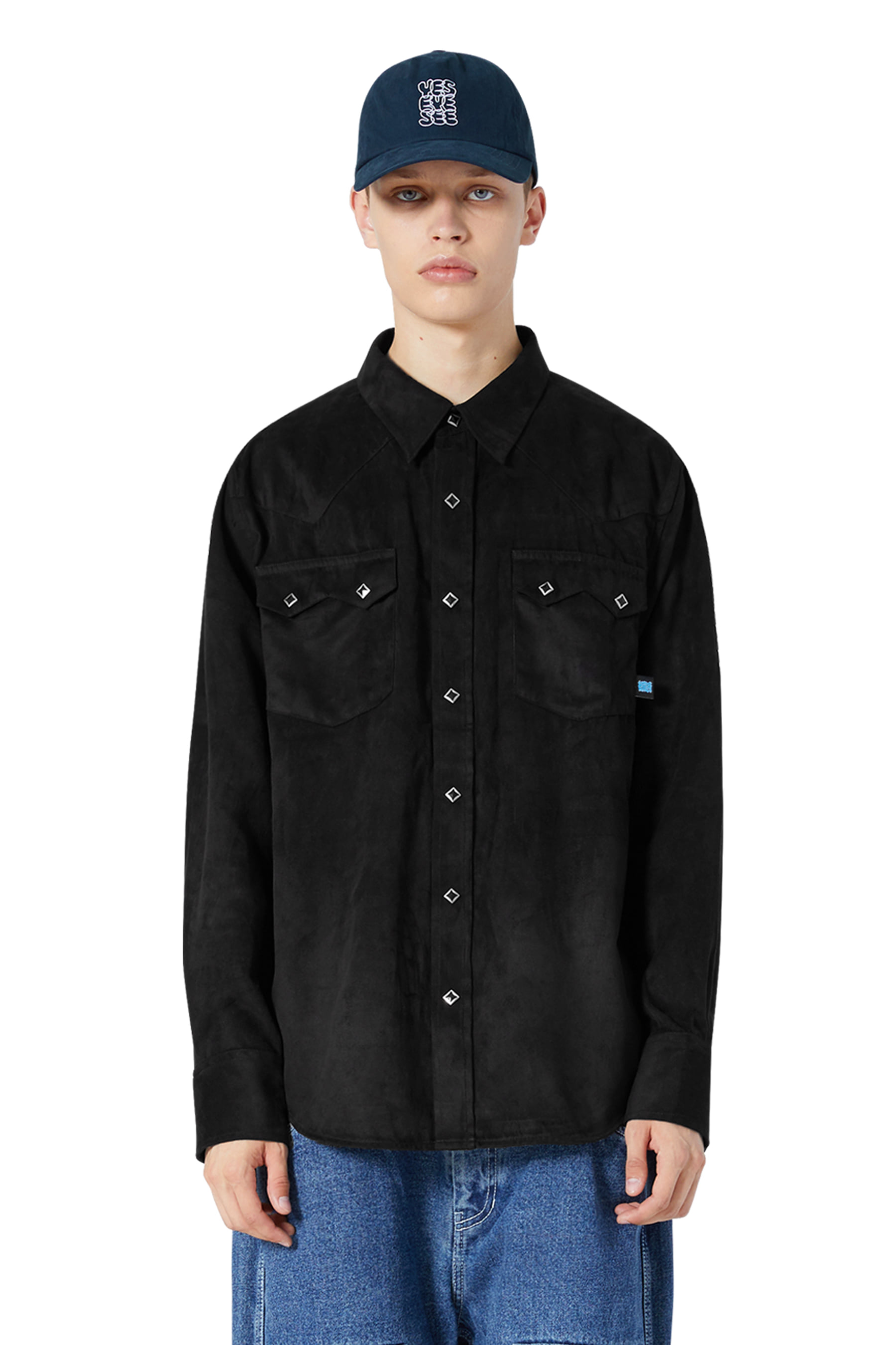 Y.E.S Suade Shirts Black