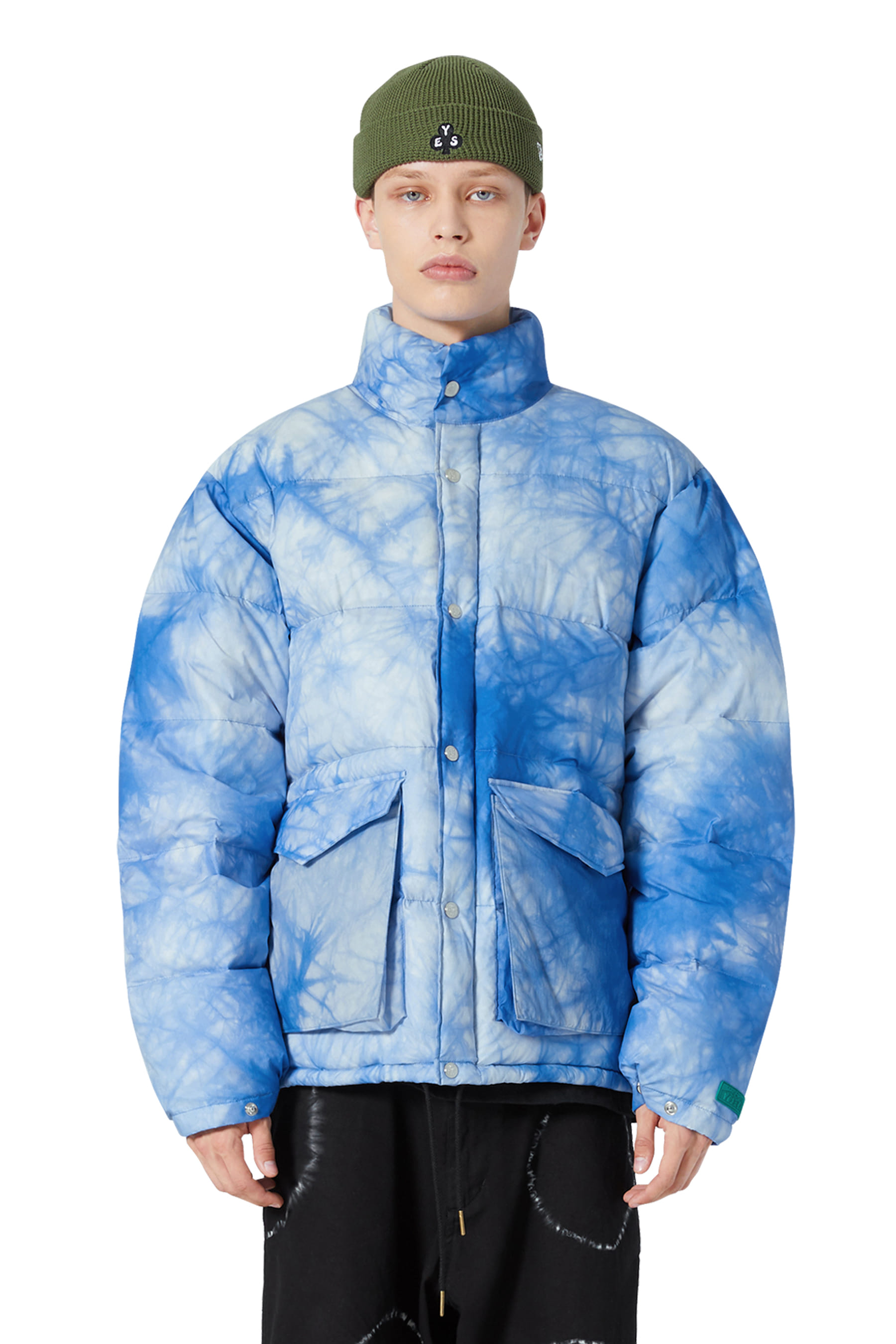 Y.E.S Dyed Down Jacket Sky Blue