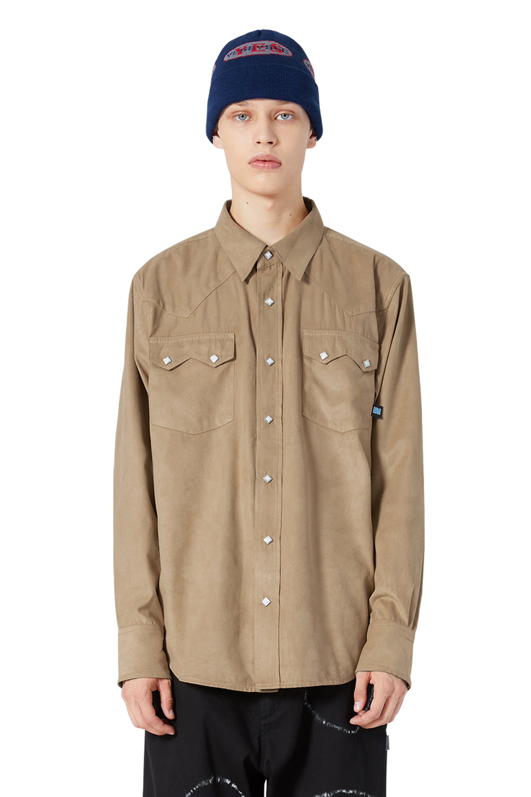 Y.E.S Suade Shirts Beige