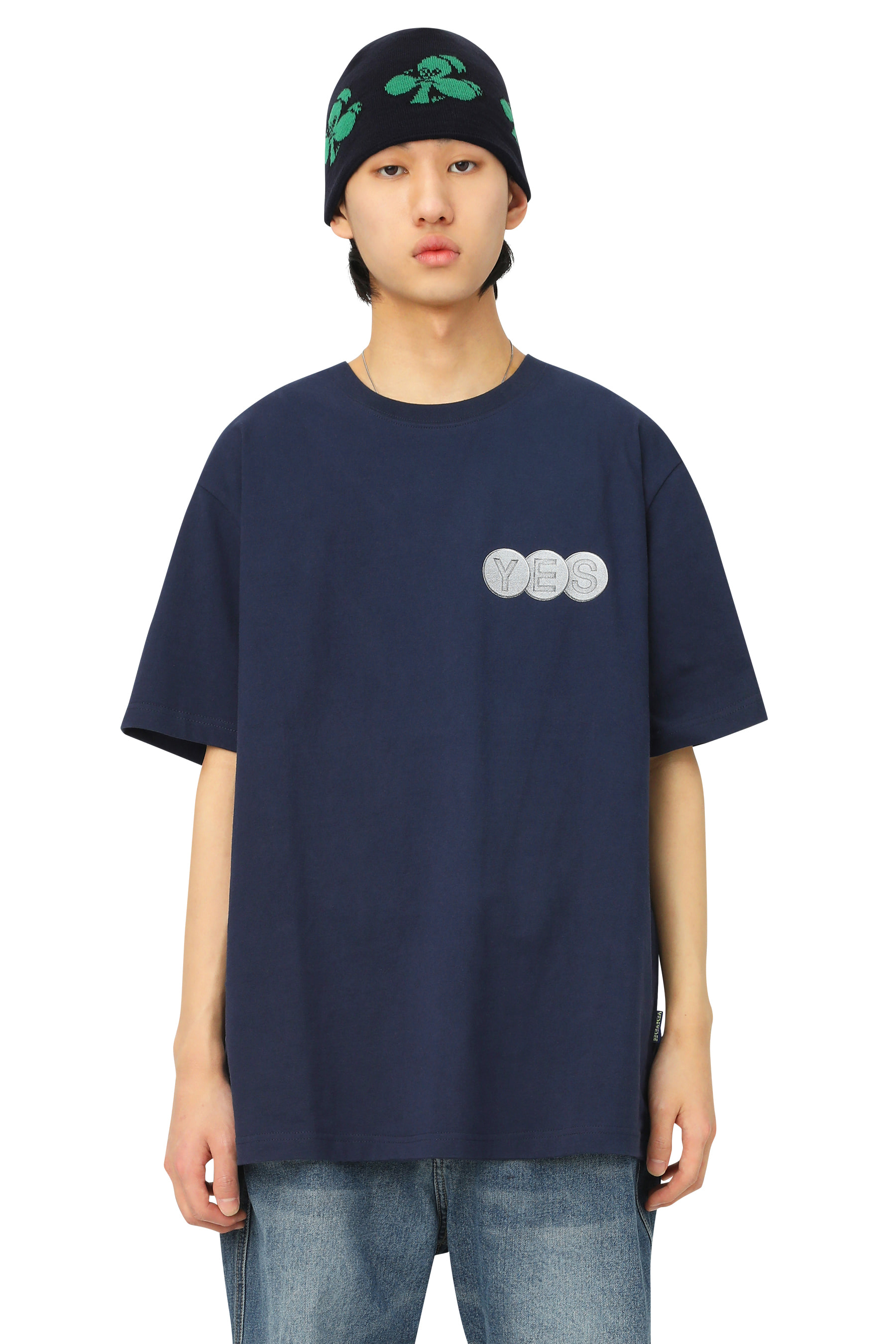 Y.E.S Screw Tee Navy