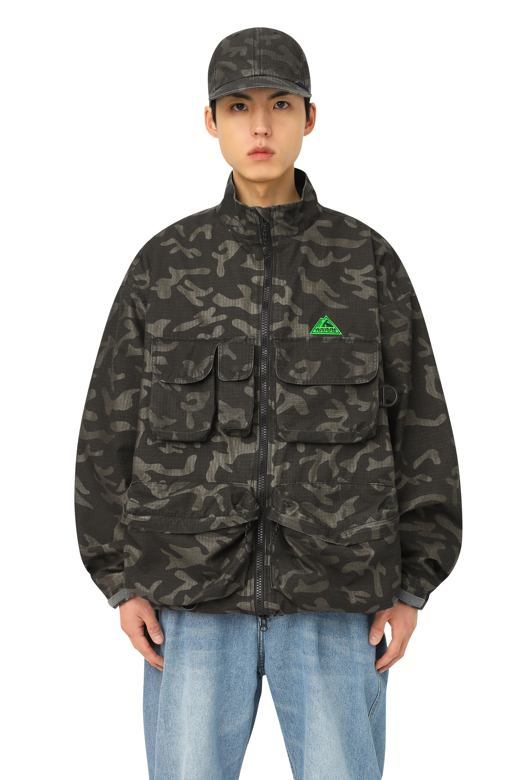 Y.E.S Fishing Parka Black Camo