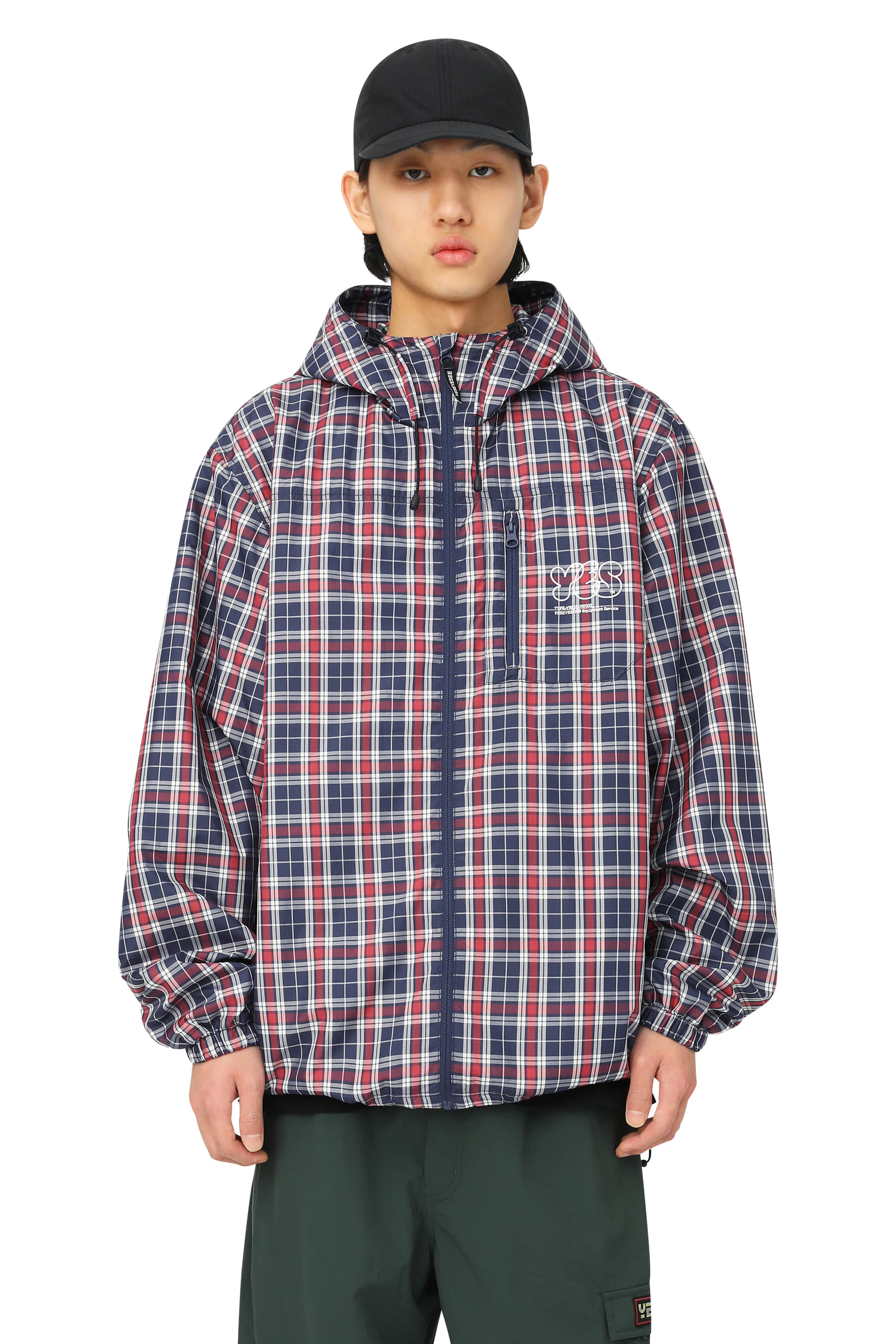 Y.E.S Check Windbreaker Red