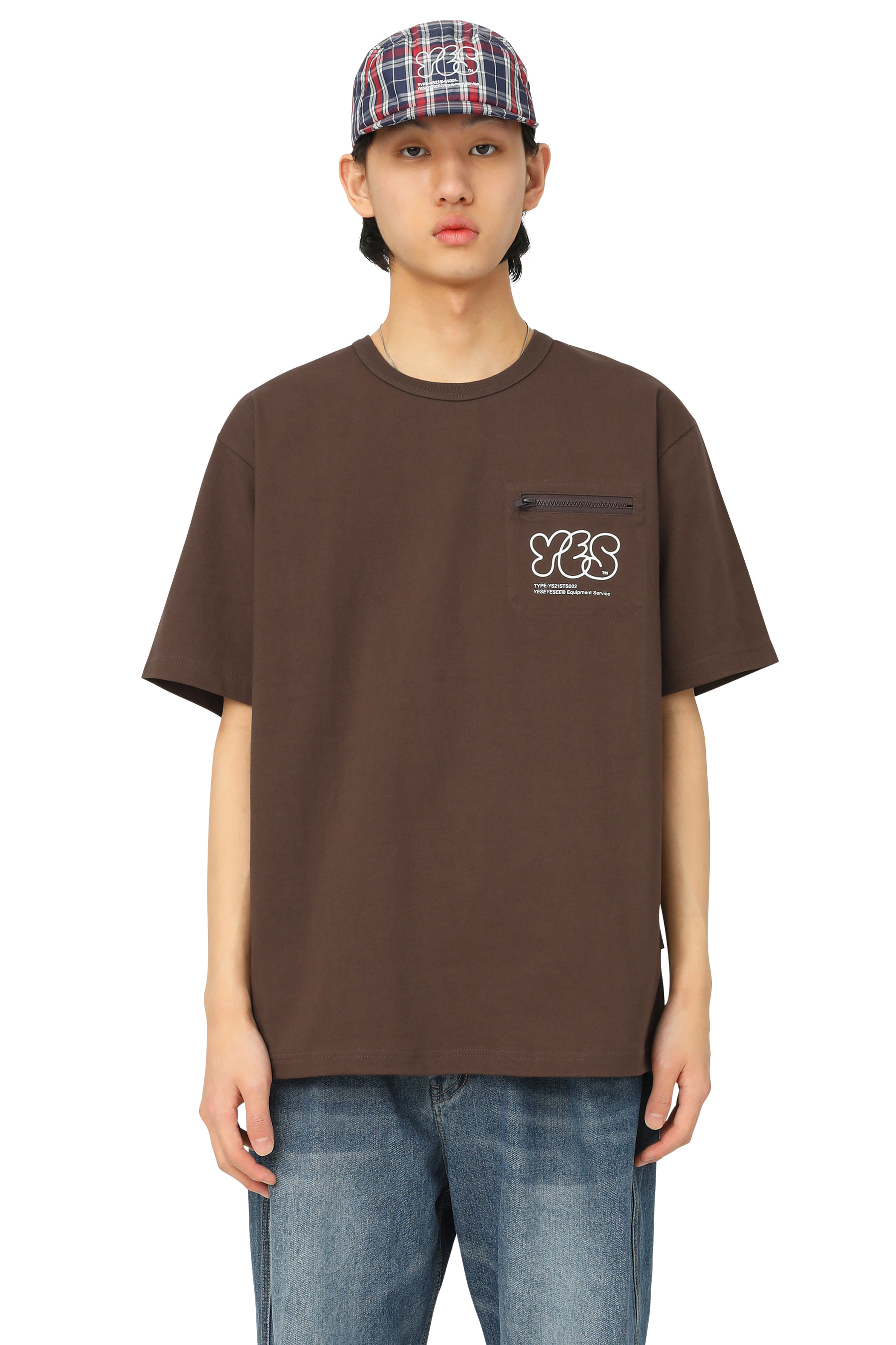 Y.E.S Pocket Tee Brown