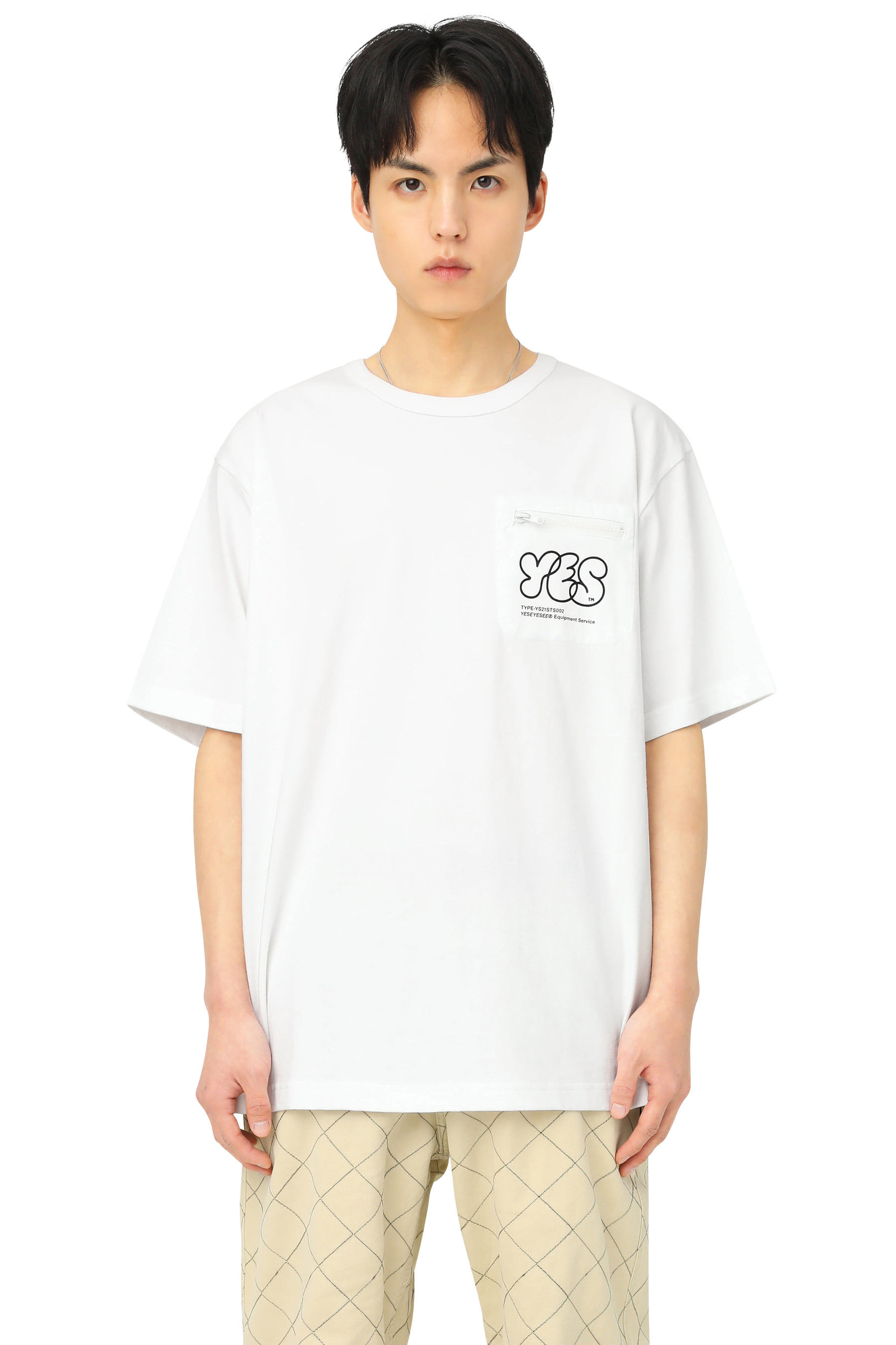 Y.E.S Pocket Tee White