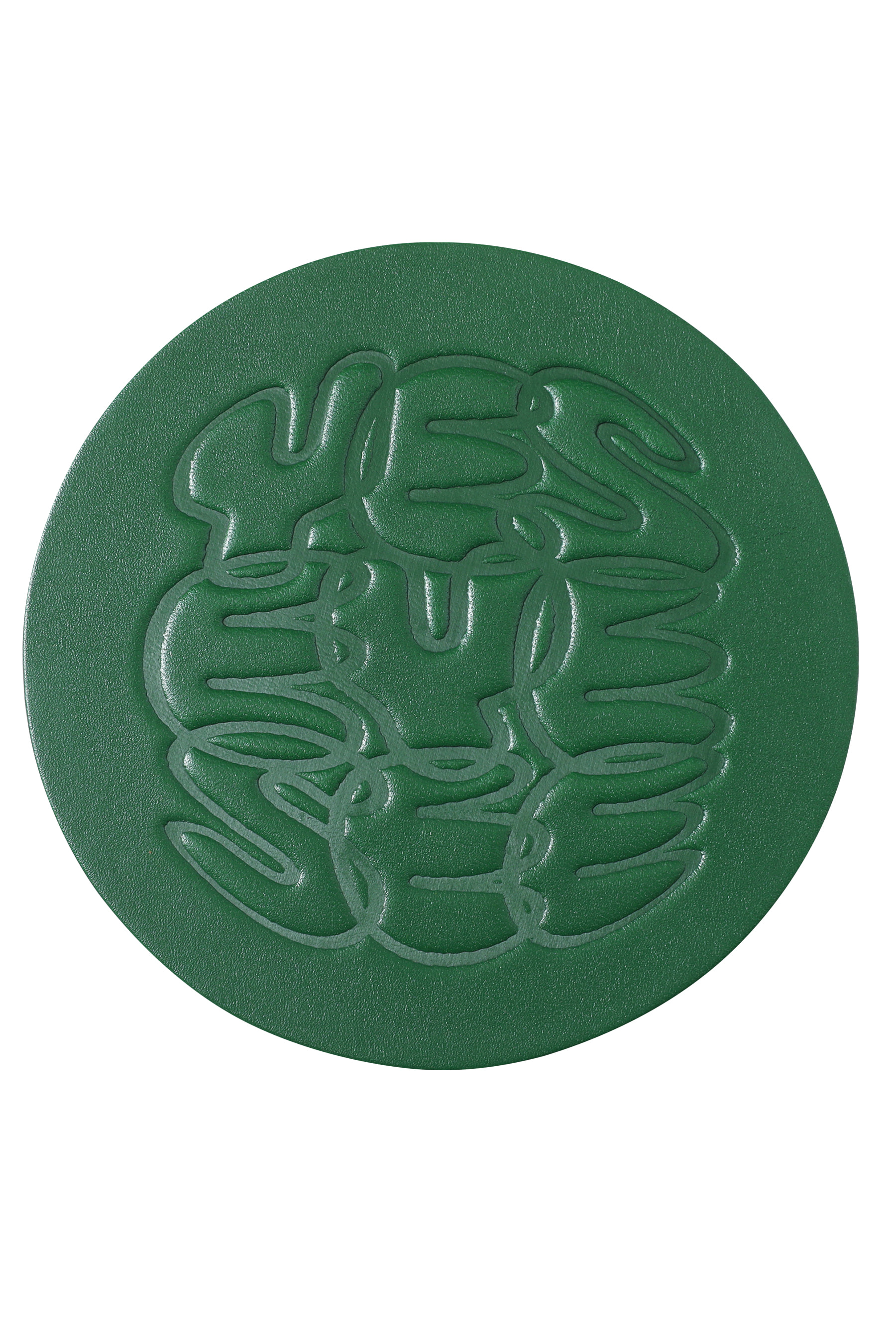 Y.E.S Leather Coaster Green
